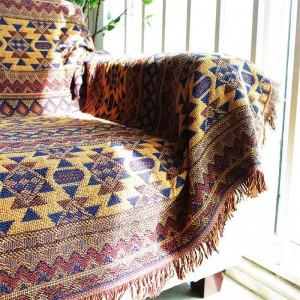 ボヘミアヴィンテージ毛布ベッドコベルタースロー毛布マンタビクトリアソファカバーベッドカバー幾何学的リップルタオル毛布
