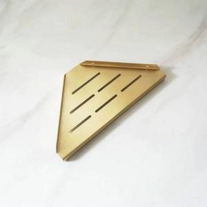 真鍮起毛バスルームの棚シングルデュアルトリプルティアトライアングルコーナーシェルフシャンプーシェルフキッチンシェルフ