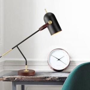 簡単な現代装飾テーブルランプデスクライトブラック北欧E 27 ledランプ寝室照明シンプルホームアート装飾