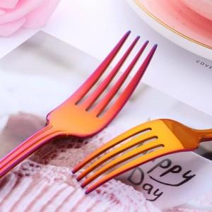40ピース食器セットステンレス鋼304カトラリーナイフフォークセット食器ゴールドシルバー洋食セットサービス8