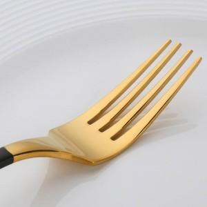 4ピースゴールドメッキカトラリーセットディナーナイフフォークセットステンレス鋼ノベルティ食器食器食器ディナーセット