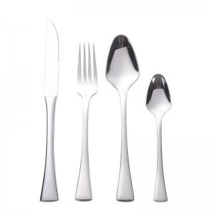 食器セット24ピースハイグレード食器ヘビーデューティステンレス鋼18/10カトラリーサービス用6ミラーポリッシュ