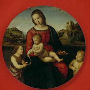セラミックプレート有名な画家ラファエル聖母マリア宗教カトリックベゼル神聖な母の壁家の装飾絵画