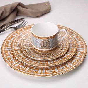セラミック洋食プレートコーヒーカップペストリー料理レストラン骨ステーキプレートモデルハウス装飾