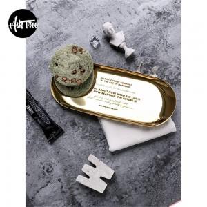 シックなスカンジナビア金属オフィステーブル収納プレート北欧エレガントな高級ゴールドレタリングオフィスデスク収納トレイオーガナイザーの装飾