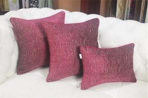 シックで柔らかい柳ラインクッションカバー投球枕ソファベッドモデルモデルルームの装飾高級cojines almofadasギフト