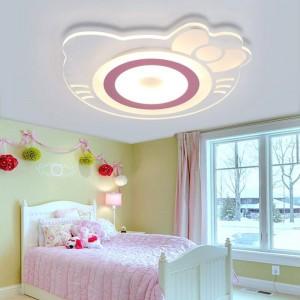 子供部屋天井ランプ女の子プリンセスルームクリエイティブ暖かいハローキティキャットルームベッドルーム子供部屋ledアクリルシーリングライト
