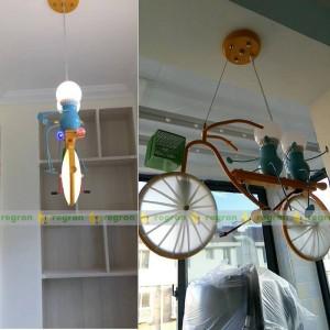 子供ledライト人格自転車子供ぶら下げランプ寝室男の子ルームランプ現代ペンダントクリエイティブライト赤ちゃん最高の贈り物