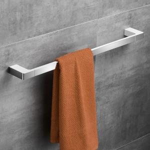 クロームカラー亜鉛合金素材60センチファッションシングルタオルバースクエアスタイルタオルレールタオルハンガー浴室付属品5724