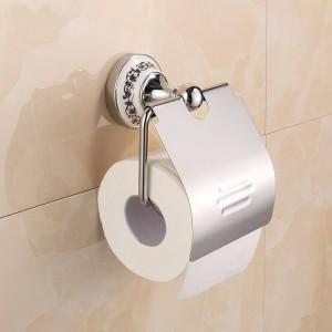 クロームステンレス鋼磁器壁掛け浴室アクセサリーペーパーホルダー7002CSP