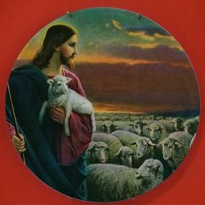 古典的な敬虔なイエス・デザイン絵画セラミック壁掛けクラフトプレート皿教会クリスチャン信仰祈り皿信者ギフト