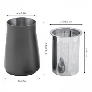 コーヒーふるいふるいパウダーメッシュ304ステンレス鋼ファインフィルターカップコーヒーパウダー香りカップ研削盤アクセサリー