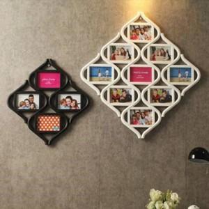 コンチネンタル12グリッド6インチフォトフレームぶら下げ写真壁状のピースホワイトホームデコレーション結婚式の装飾