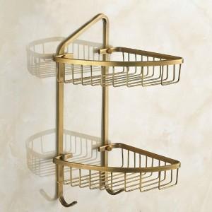 銅アンティークファッション二重層バスルーム二重層バスケット棚