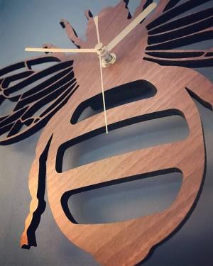 クリエイティブ竹/蜂ウォールクロックガーデン自然装飾壁壁掛けテーブルクロッククォーツ時計リビングルーム寝室
