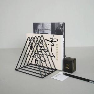 クリエイティブブックエンド家の装飾ブックストップマガジンオーガナイザー本棚ストッパー