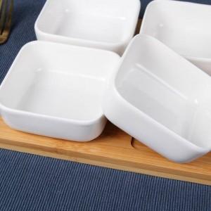 クリエイティブセラミックスクエアスナックキムチ皿ドライフルーツサラダボウルソース皿砂糖&クリーマーポット食器スパイスジャー