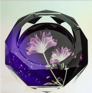 クリエイティブクリスタル灰皿、家庭用品および事務用品、直径12 cm