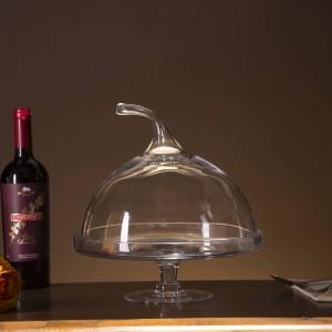 クリエイティブガラスカボチャケーキスタンドコンポート装飾デザートサービングトレイカバー食器やガラス製品調理器具アクセサリー