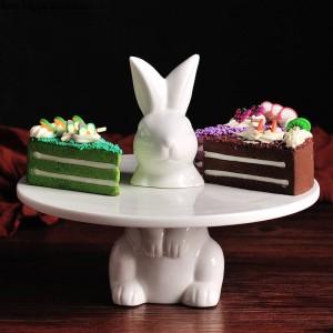 クリエイティブ素敵なウサギケーキトレイフルーツトレイケーキスタンド装飾プレート結婚式感謝祭クリスマスデコレーション