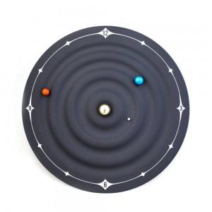 クリエイティブ置時計現代デザイン軌道銀河磁気時計惑星ボールデスクウォッチウォールマウントまたはデスクトップ家の装飾8インチ