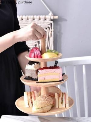 クリエイティブ木製デザートテーブルケーキスタンドディスプレイスタンドフルーツトレイ結婚式誕生日パーティーキッチン収納家の装飾