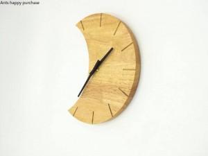 クリエイティブ木製壁掛け時計シンプルで静かなリビングルームの寝室ムーンクロック壁掛け時計モダンデザインウォール家の装飾