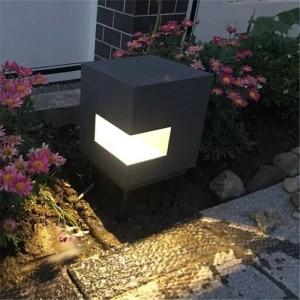 キューブタイプアルミled芝生ランプ屋外中庭照明ガーデンヴィラ風景ライト芝生ライト防水街灯