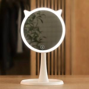 かわいいLEDライト化粧鏡家庭用タッチスクリーン化粧鏡プロの虚栄心ledライトミラーの装飾mx12281800
