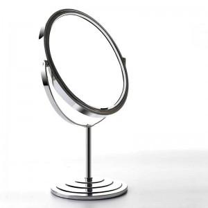 デスクトップ両面化粧鏡シンプルなヨーロピアンスタイルの家6/7/8インチメタルラウンド拡大ドレッシングテーブルミラーmx01111018