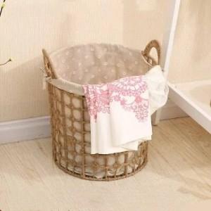 汚れた衣類収納バスケット北欧の洗濯かご大きい編まれた収納バスケット家庭用シンプルな汚れた服のバスケット