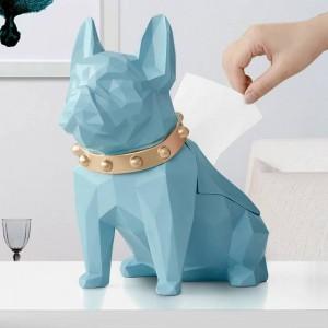 犬置物樹脂黒犬ティッシュホルダークラフト用キッチンルームテーブルトップ家の装飾現代クリエイティブ幾何学的犬ティッシュボックス