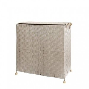 環境に優しい手織りの汚れた服収納バスケットビンふた付き折りたたみ式ダンパーランドリー