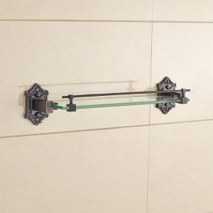 ヨーロッパスタイルのレトロ化粧品棚ラック棚アンティーク銅浴室収納ガラステーブル9138K