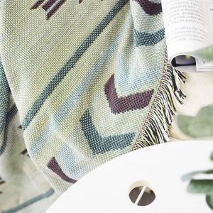 ヨーロッパの幾何学は毛布コーヒーソファ装飾的なスリップカバーCobertorを滑り止め滑り止めステッチ毛布クリスマスに投げます