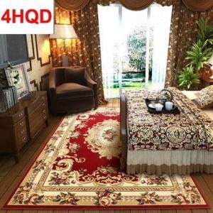 ヨーロピアンスタイルのリビングルームのコーヒーテーブルのカーペットの寝室のベッドサイドのカーペットのカーペットモダンなミニマリストマニュアル三次元カットフロー