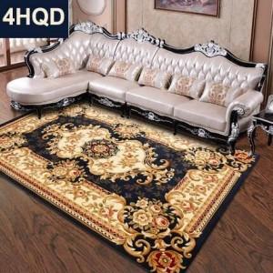 ヨーロピアンスタイルのリビングルームのコーヒーテーブルのソファカーペット新しい手作りの花の暗号化厚手の寝室のベッドの毛布