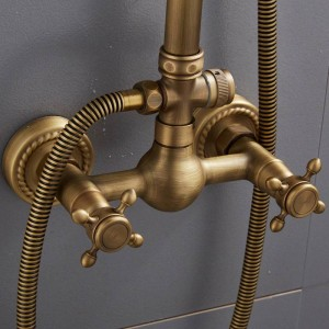 ヨーロッパスタイルのレトロアンティーク銅シャワーシャワーセットシャワー浴槽シャワー蛇口XT 305