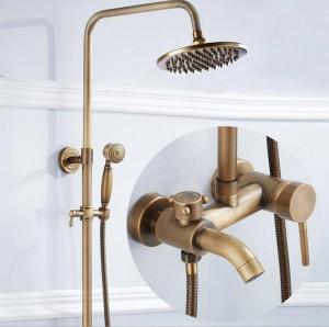 銅の骨董品のシャワーセットXT 304の完全なヨーロッパスタイルのレトロ3速クイックリリースシャワーシャワー