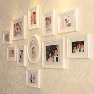 スタイリッシュな家の装飾のヨーロッパスタイルの木製フレームフォトウォールフレーム壁創造的な組み合わせ結婚式の装飾