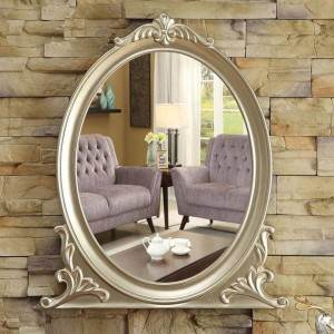 ヨーロッパ壁掛け浴室ミラー浴室化粧鏡装飾ポーチ寝室化粧台ミラーwx 8231352