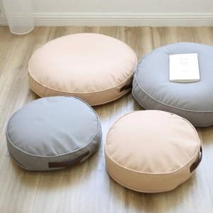 床に座るクッションフットスツールJanpaneseラウンドシーティングソファープーフフットレッグレストステップスツール枕子供のための大人のサイズ40 cm / 60 cm