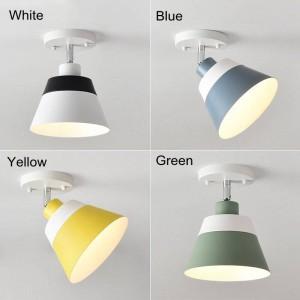 無料の調整可能なマカロンLEDシーリングライトモダンでシンプルなカラフルな家族の廊下の装飾面実装LEDランプ