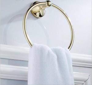 ゴールドフル銅浴室の壁ハードウェアペンダントタオルリング9023K