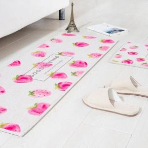 フルーツパターンマットスクエアクッションキッチンドアパッド浴室滑り止め取り外しほこりドアマットテーブルカーペット寝具スイカの敷物