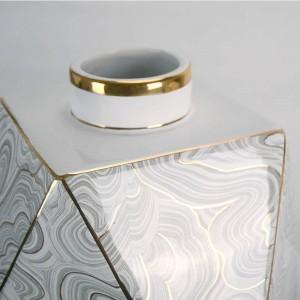 幾何学的なセラミック花瓶水ダイヤモンド花瓶家の装飾高級装飾飾り