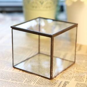 ガラスフラワールーム永生花幾何学的ガラスフラワールーム美しいガラスジュエリーボックスギフト