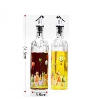 ガラスオイラー漏れ防止江陽瓶酢ボトルオイルボトル調味料ボトル大きなツインセットキッチン用品