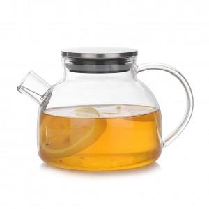 ガラスティーポットカップ高ホウケイ酸耐熱茶セット熱安全性と爆発防止茶セット快適な手で