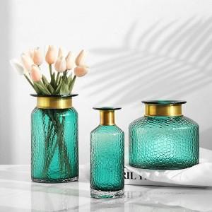 ガラス花瓶家の装飾水耕ドライフラワーデスクトップ装飾